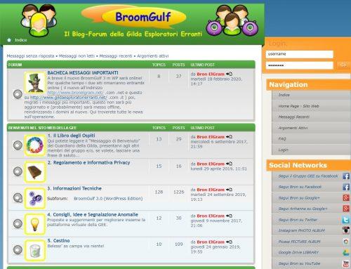 "STATISTICHE 7 anni di ""BroomGulf 2"" (03.2013 – 03.2020)"
